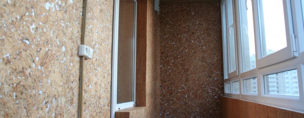 отделка балконов пробкой
