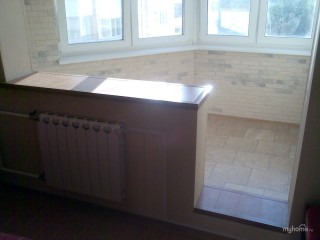 отделка балконов ламинированными панелями