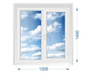окна BRUSBOX 60 (Брусбокс) двухстворчатое поворотно откидное
