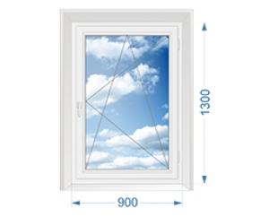 окна BRUSBOX 60 1300*900