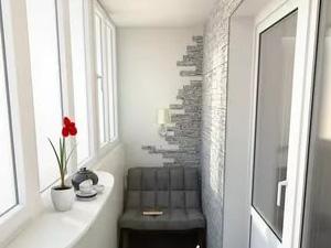 отделка балкона камнем в минске